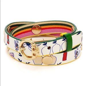 { Tory Burch } Reversible Double Wrap Bracelet